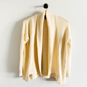 J. crew cream cotton shawl collar cardigan sweater